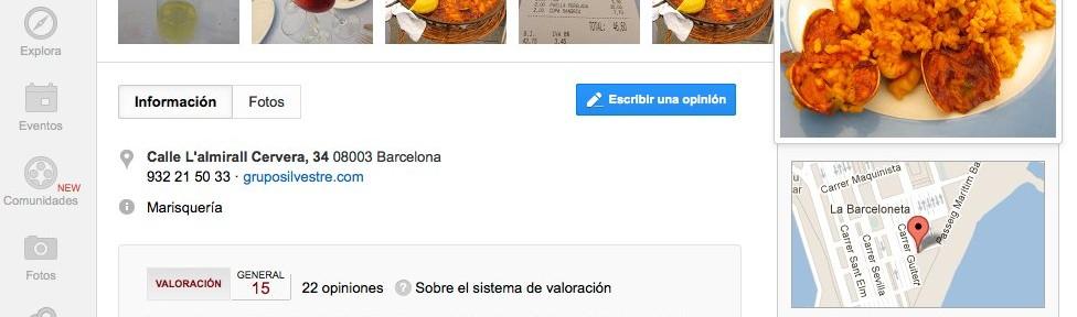 google places para restaurantes