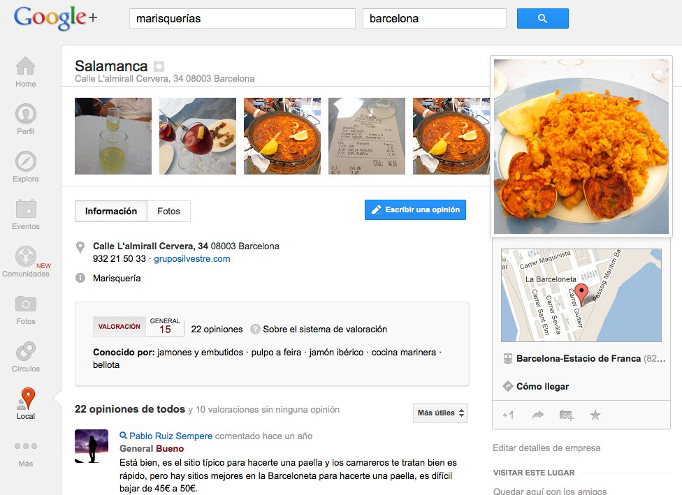 google places para restaurantes