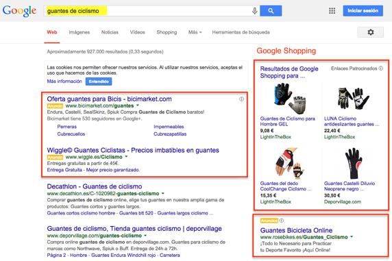 Anuncios en la red de búsqueda de google