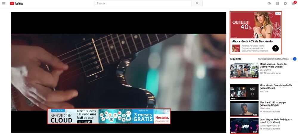 anuncios en youtube de la red display