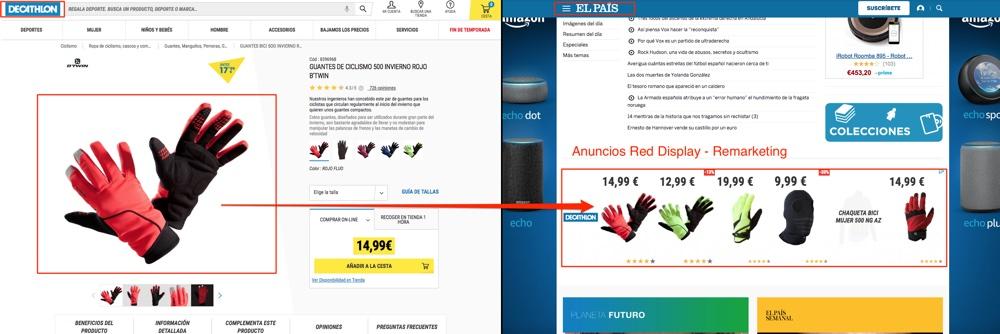 anuncios de remarketing de la red display