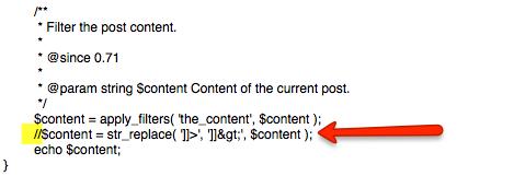 solución al error CDATA en el código de conversión de Adwords